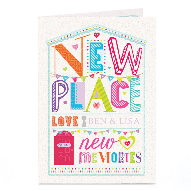 Personalised New Home Card - New Place, New Memories