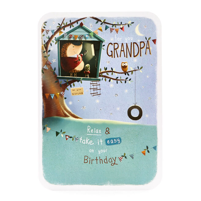 Special Collection Birthday Card - Grandpa Hedgehog