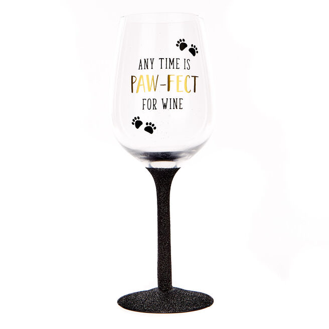 Pawsome Pals - Glittery Wine Glass
