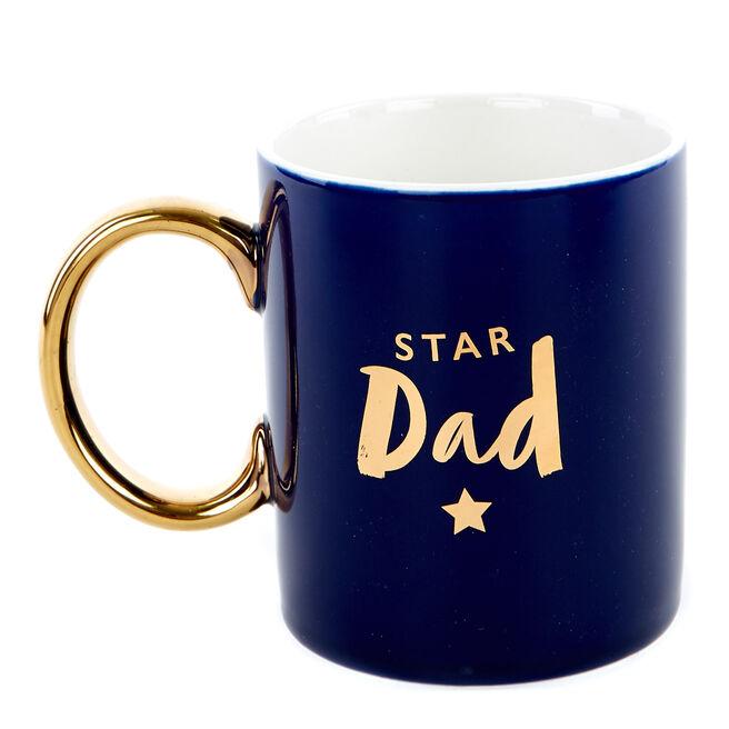 Star Dad Christmas Mug