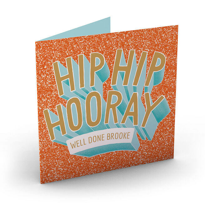 Personalised Well Done Card - Hip Hip Hooray