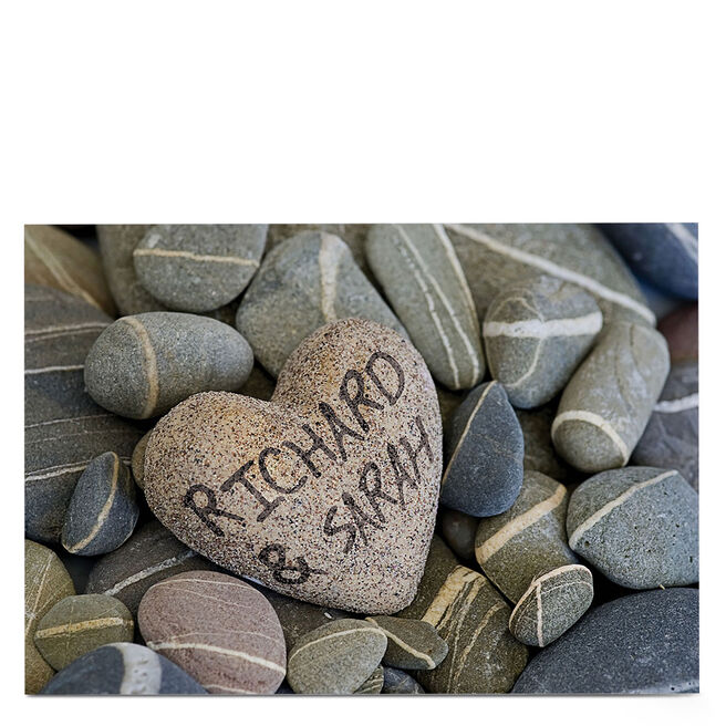 Personalised Card - Heart Shaped Pebble