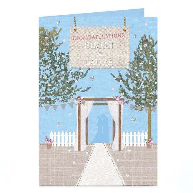 Personalised Wedding Card - Outdoor Wedding Scene