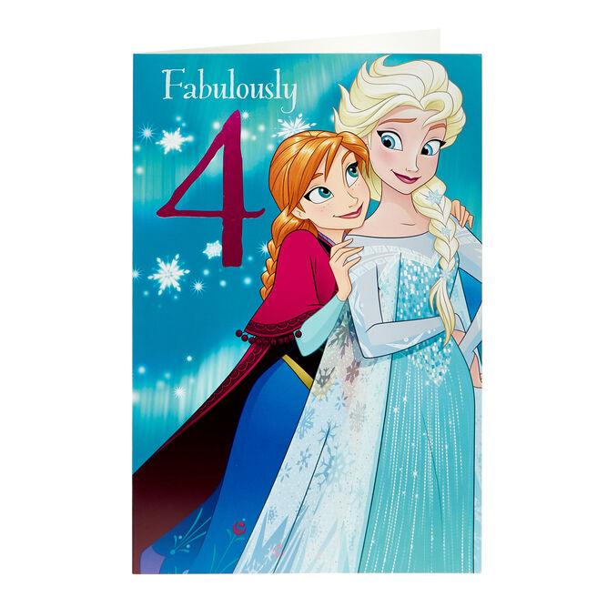 Frozen 4th Birthday Card