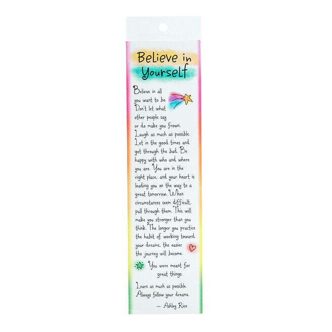 Blue Mountain Arts Bookmark - Believe In Yourself