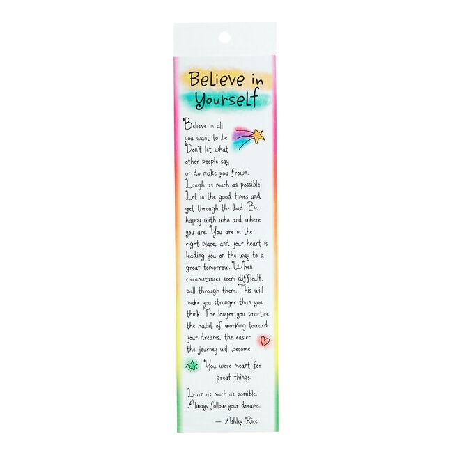 Blue Mountain Arts Bookmark - Believe In Yourself