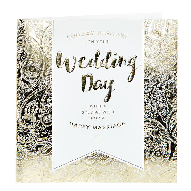 Exquisite Collection Wedding Card - With A Special Wish