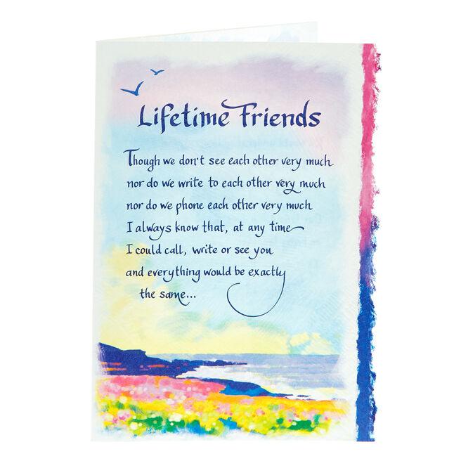 Blue Mountain Arts Card - Lifetime Friends