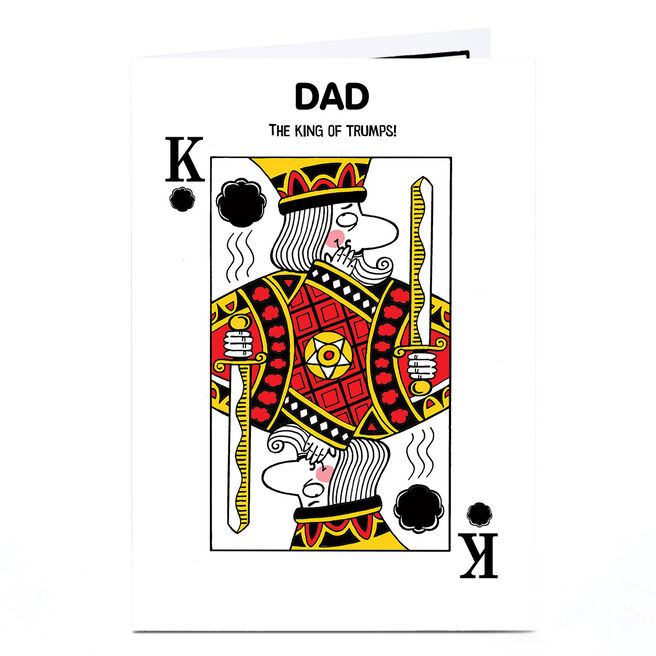 Personalised Card - King Of Trumps [Dad]