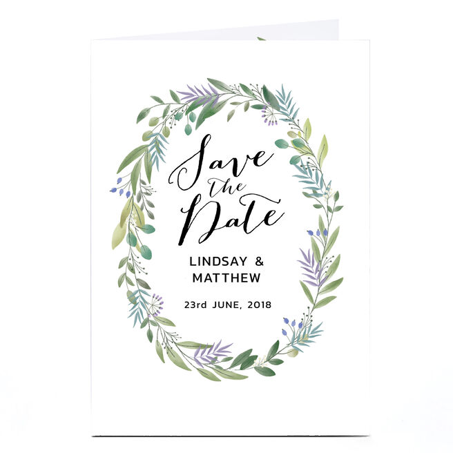 Personalised Save-The-Date Card - Modern Botanical