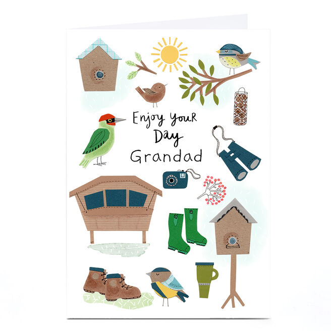 Personalised Lindsay Loves To Draw Father's Day Card - Enjoy Your Day