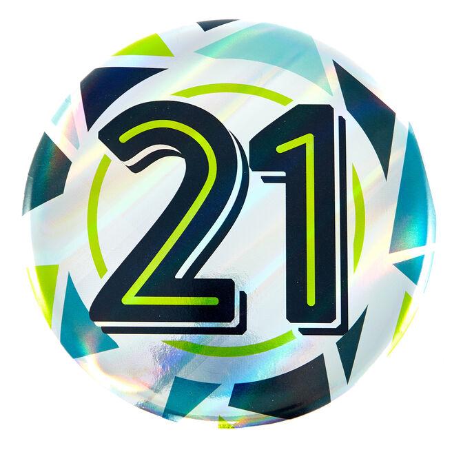 Giant 21st Birthday Badge - Blue