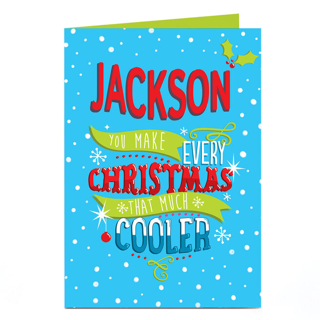 Personalised Christmas Card - That Much Cooler