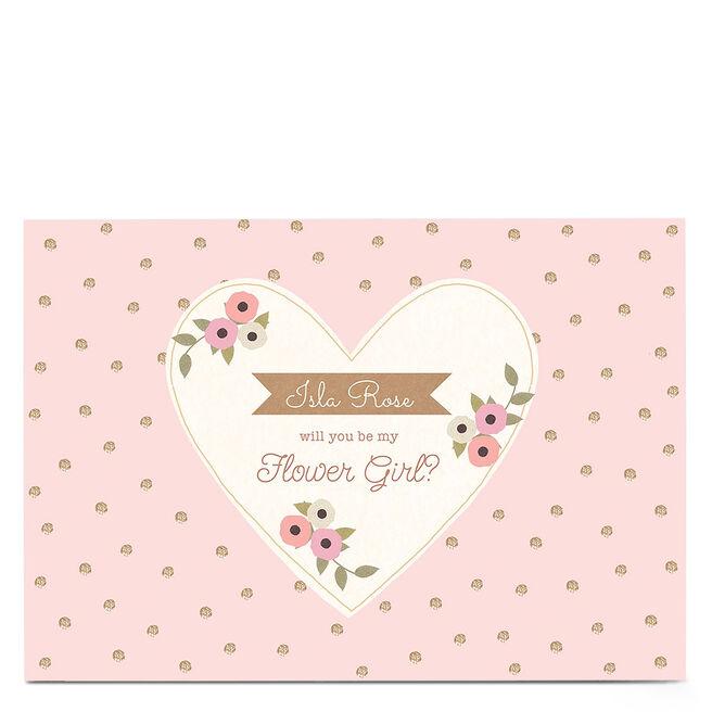 Personalised Wedding Card - Be My Flower Girl