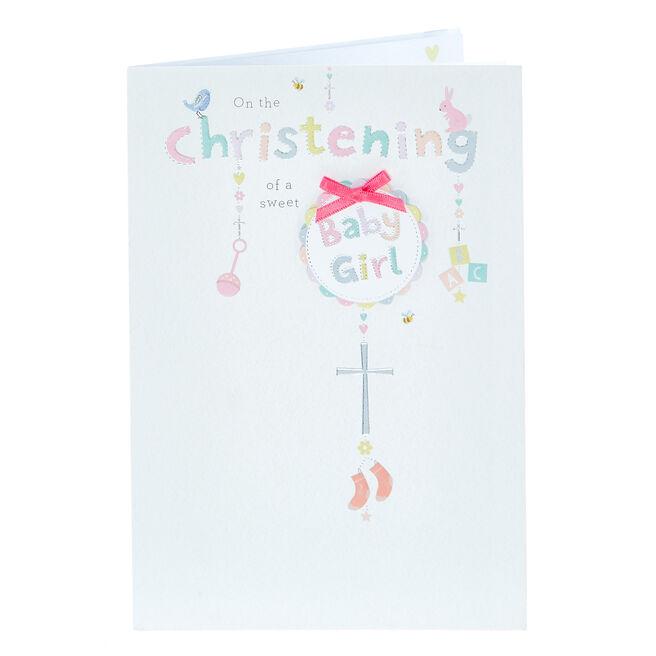 Christening Card - Sweet Baby Girl
