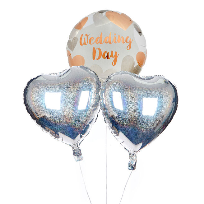 Wedding Day Balloon Bouquet - DELIVERED INFLATED!