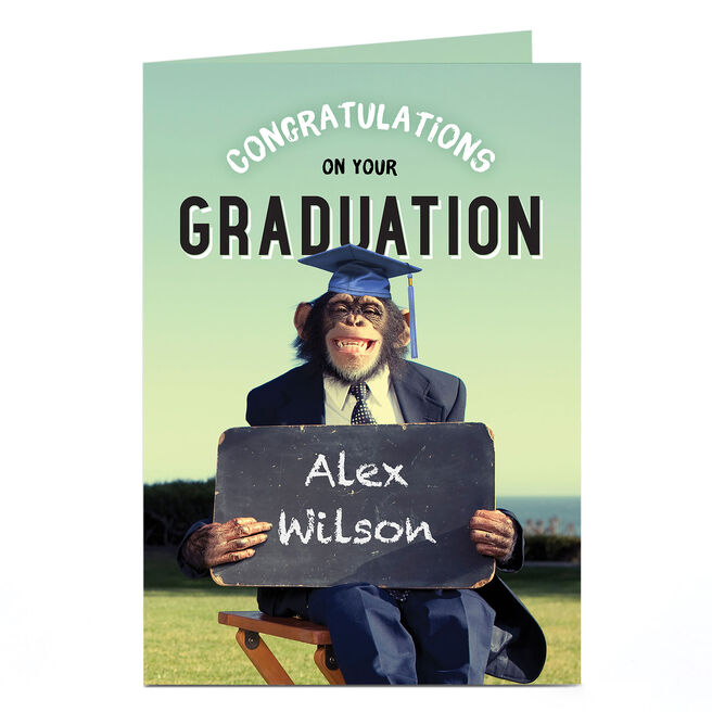 Personalised Graduation Card - Chimp