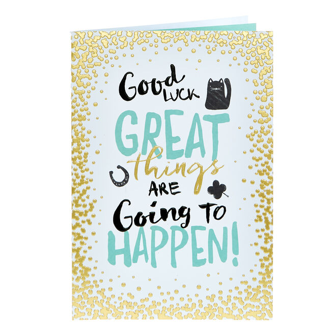 Good Luck Card - Great Things