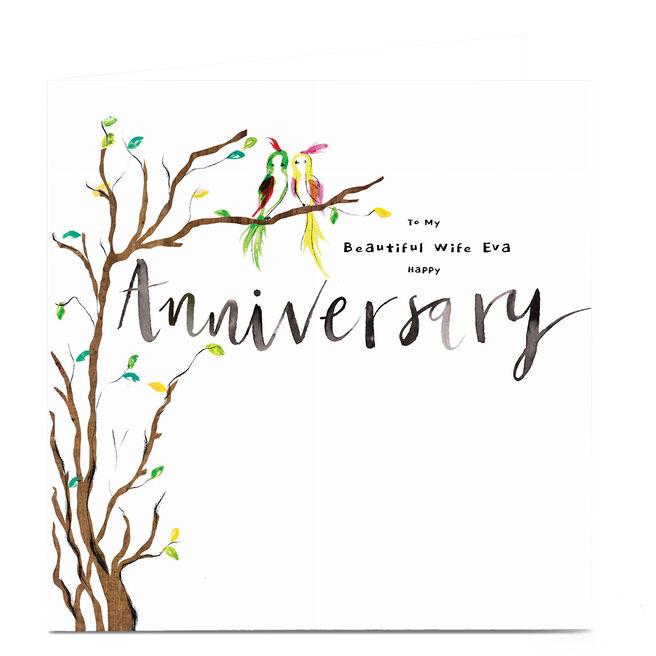 Personalised Emma Valenghi Anniversary Card - Tree