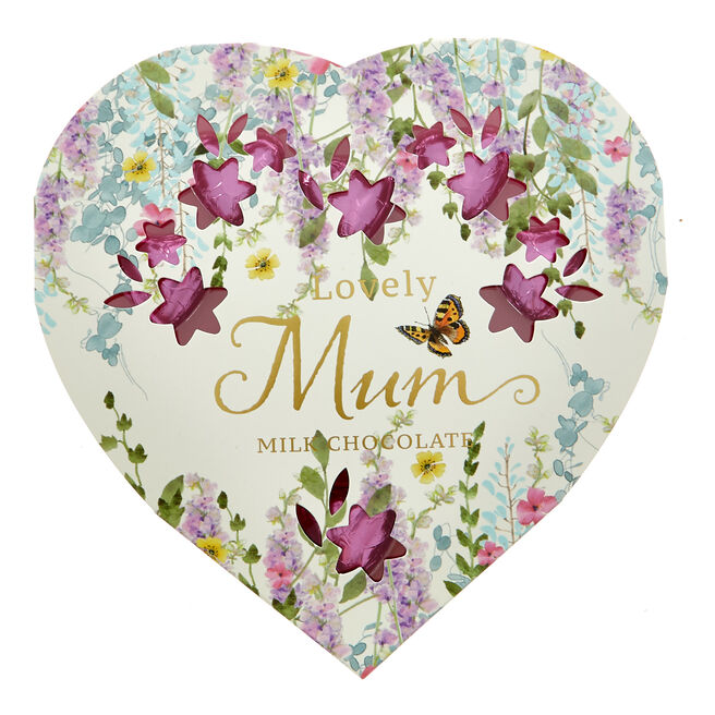 Lovely Mum Milk Chocolate Hearts
