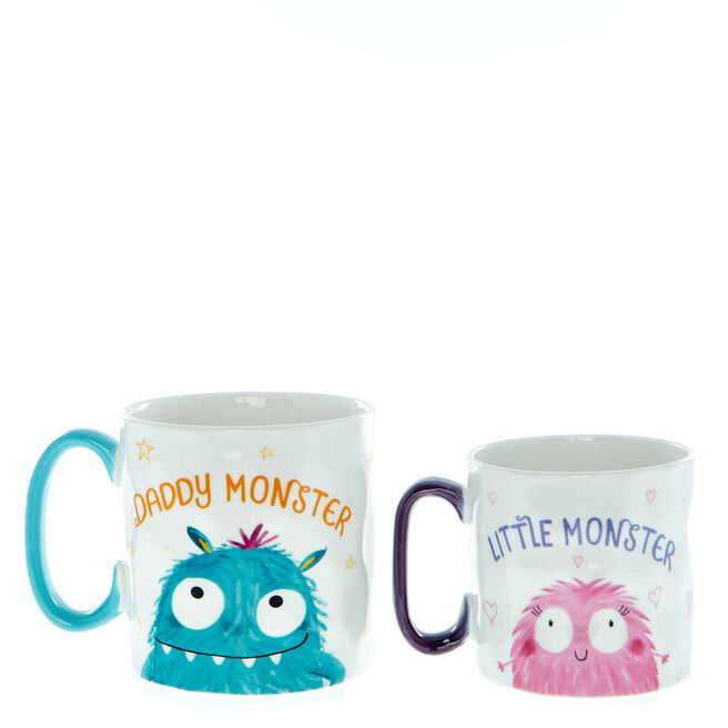 Little Monsters Daddy & Me Twin Mug Set