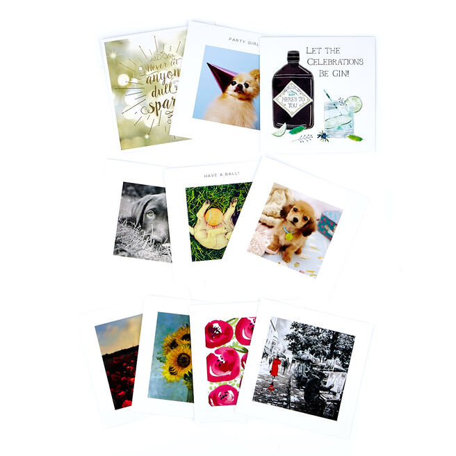 Assorted Occasion Cards, Female Designs - Pack of 10
