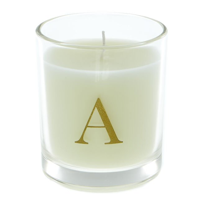Letter A Warm Cashmere Scented Candle