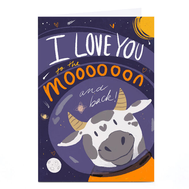 Personalised Raluca Farcas Card - Love You To The Moooooon