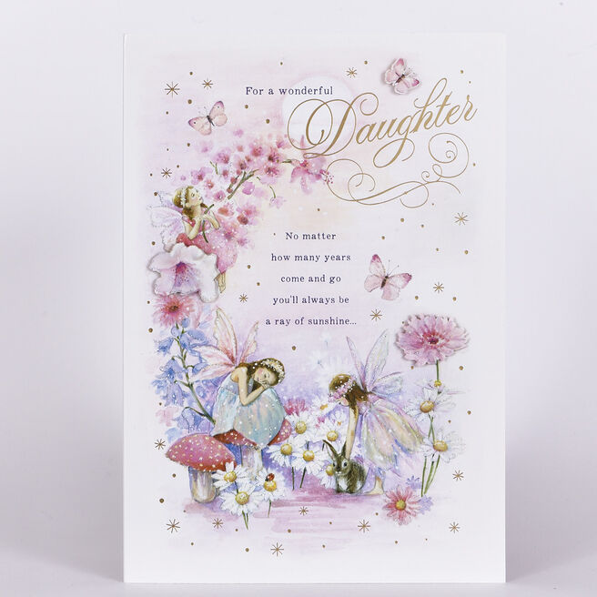Signature Collection Birthday Card - Daughter, Fairies