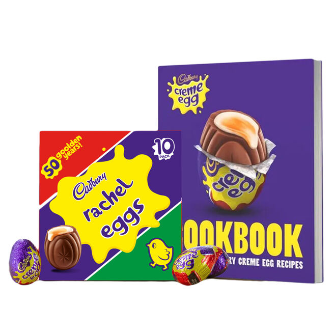 Cadbury Crème Egg Cook Book & Personalised Box of 10 Eggs