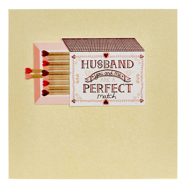 Boutique Collection Anniversary Card - Husband, Perfect Match