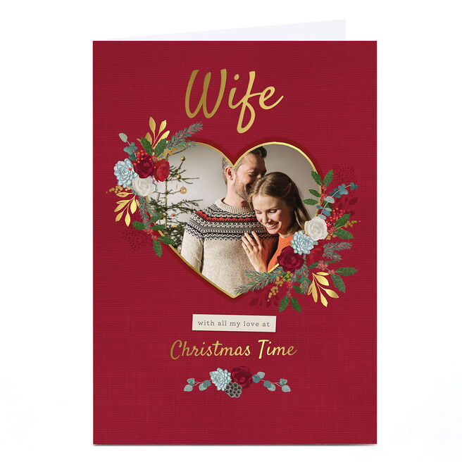 Photo Kerry Spurling Christmas Card - Wife Heart