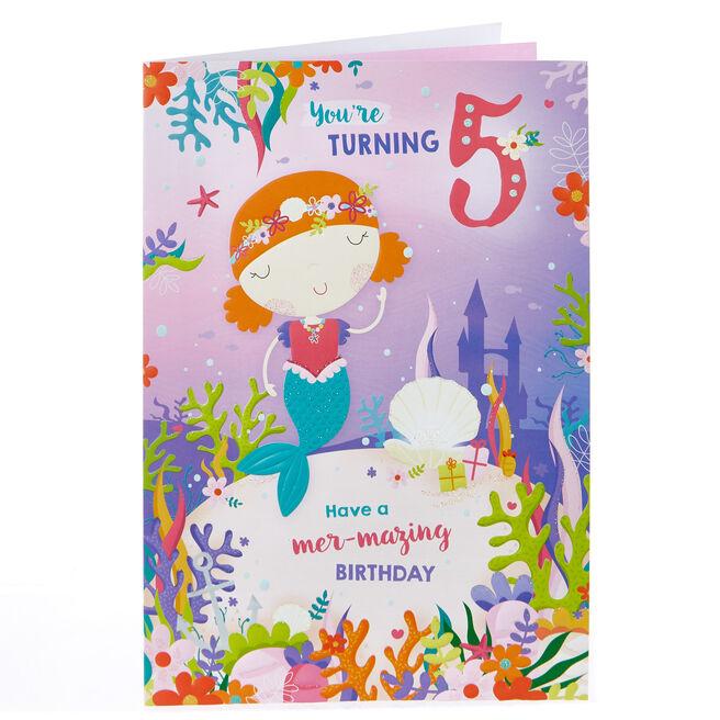 5th Birthday Card - Mer-mazing Day