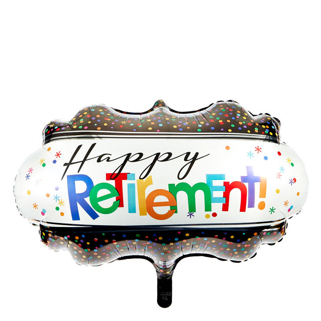 Large Happy Retirement 27-Inch Foil Helium Balloon