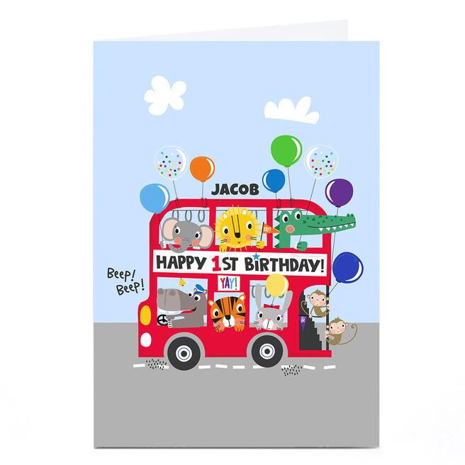 Personalised Rachel Griffin Birthday Card - Happy 1st Birthday