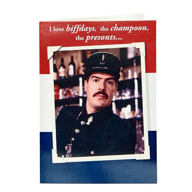 Allo 'Allo! Birthday Card - I Love Biffdays