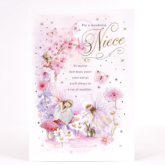 Signature Collection Birthday Card - Wonderful Niece