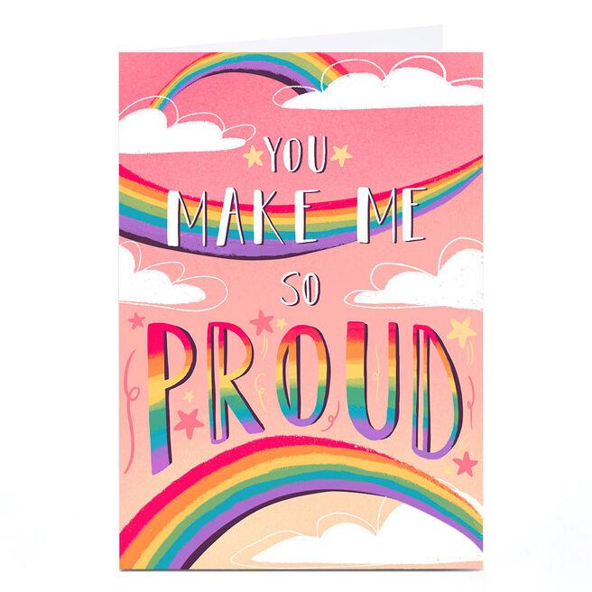 Personalised Raluca Farcas Card - Make Me Proud, Pink