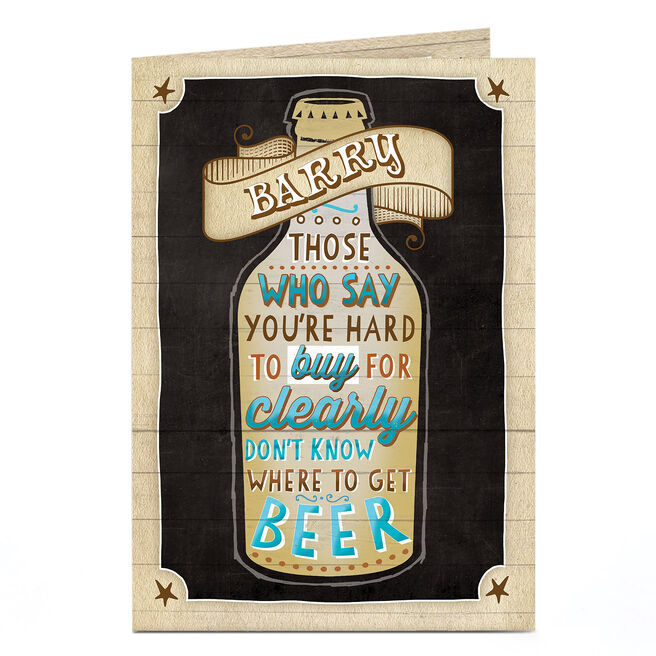 Personalised Birthday Card - Beer Bottle