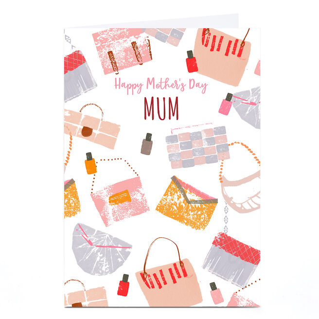 Personalised Rebecca Prinn Mother's Day Card - Handbags