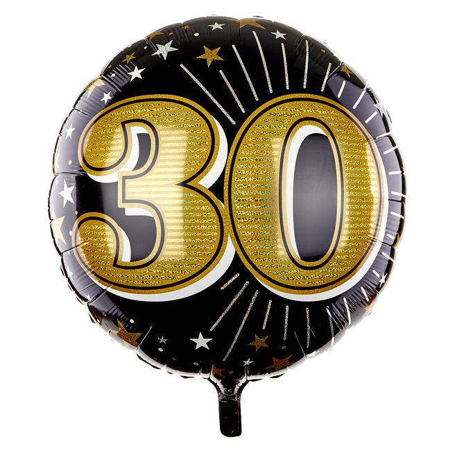 31 Inch Foil Balloon - Age 30 Gold 16447