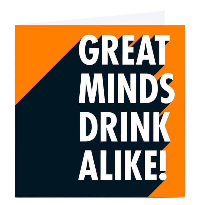 Personalised Hello Munki Card - Great Minds Drink Alike!