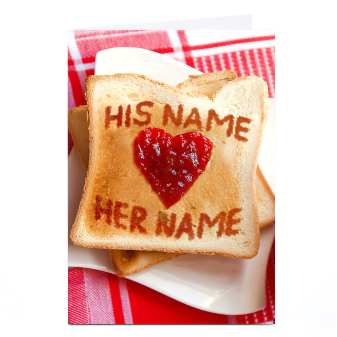 Personalised Card - Love Toast