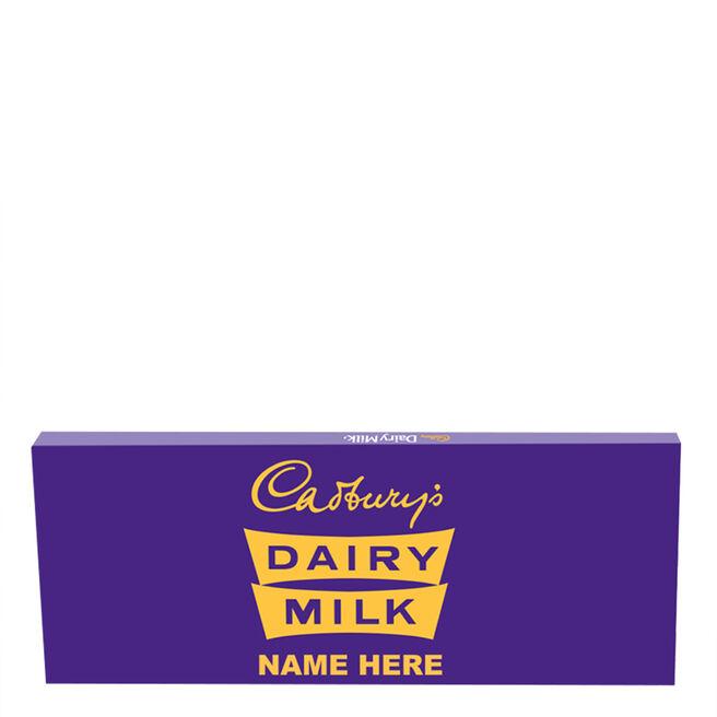 850g Personalised Retro 1960s Cadbury Dairy Milk Bar