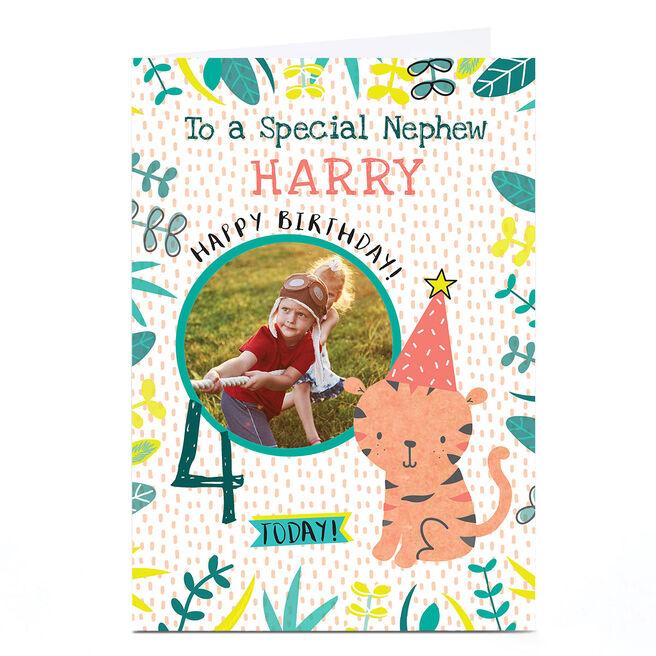 Photo Juniper & Rose Birthday Card - Cute Tiger