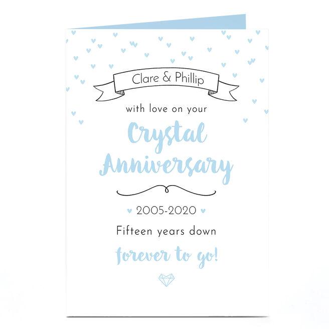 Personalised Anniversary Card - Crystal Anniversary