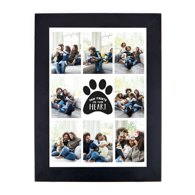 Personalised Photo Print - Pawprints On Your Heart