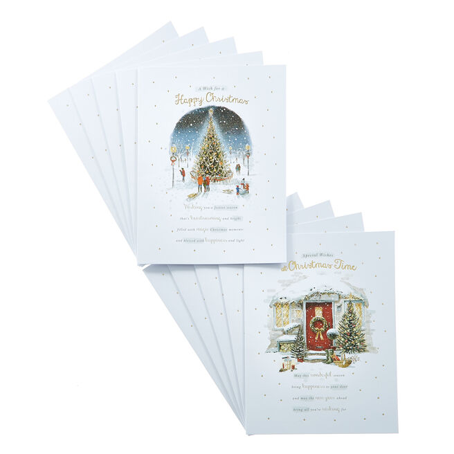 Box Of Deluxe Festive Home Charity Christmas Cards - 2 Designs