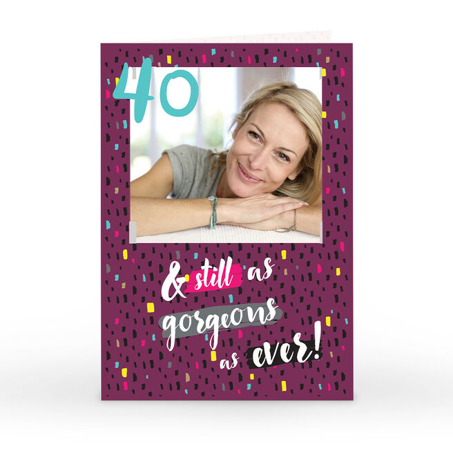 Personalised Any Age Photo Birthday Card - As Gorgeous As Ever