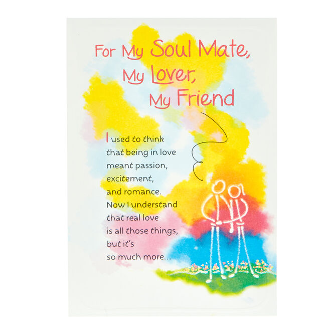 Blue Mountain Arts Card - My Soulmate, My Lover